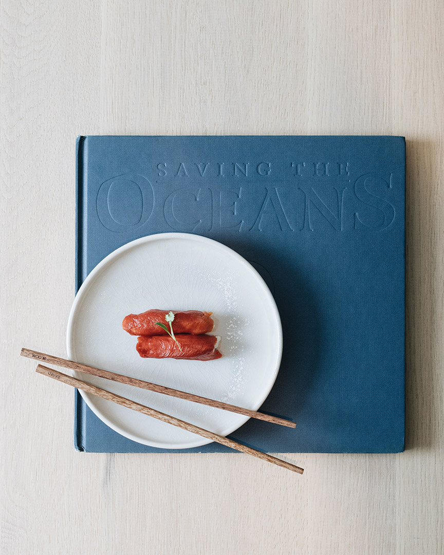 saving the oceans book and nigiri by Bloom