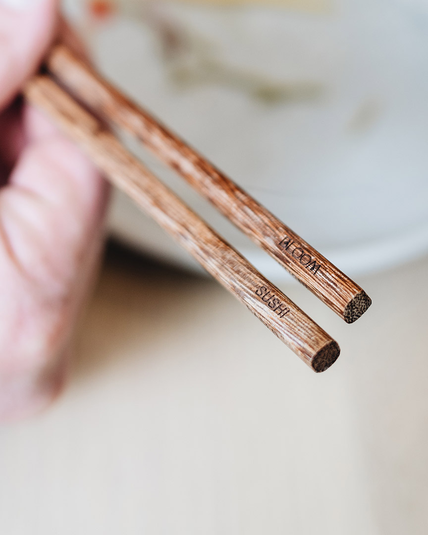 Bloom-branded chopsticks
